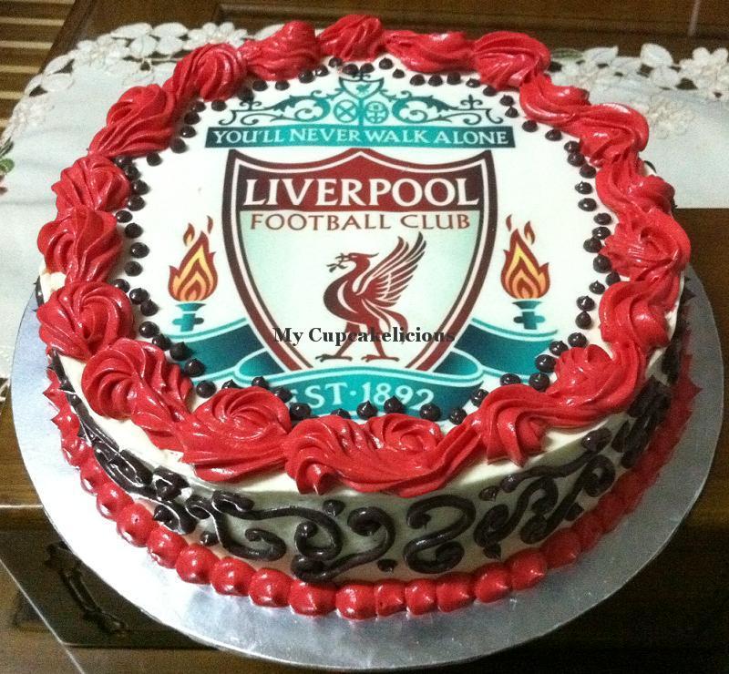 Football Birthday Cakes Tesco ~ My cupcakelicious liverpool cake