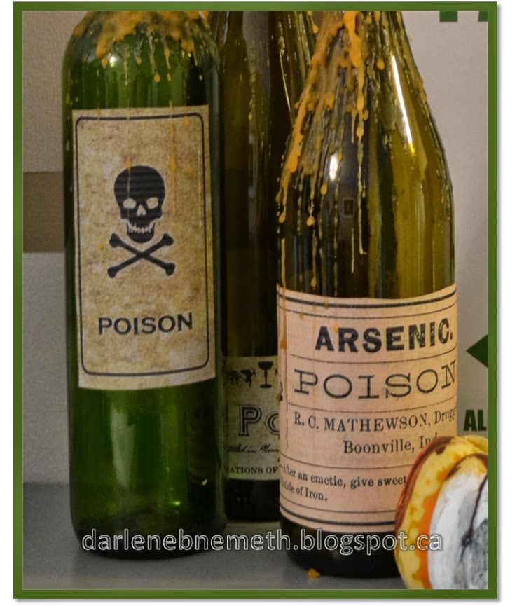 Poison Labels on Wine Bottles