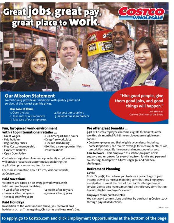 RGV Life  Costco Jobs