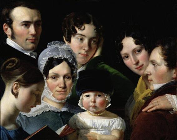 Claude-Marie Dubufe. The Dubufe Family,  1820