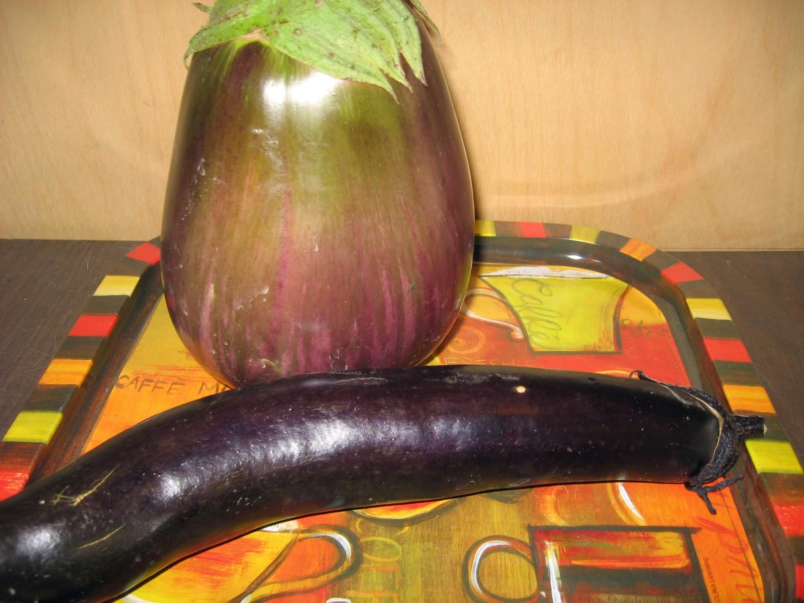 Italian and Japanese eggplant