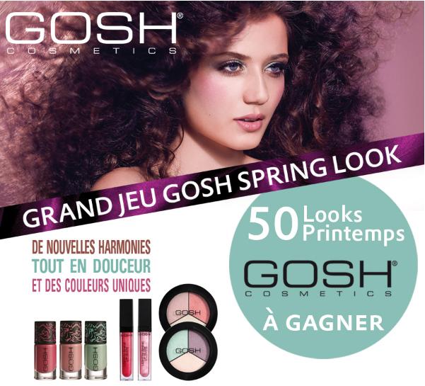 Jeu concours Marionnaud: A gagner 50 Looks Printemps GOSH de 40.50€ Bon plan