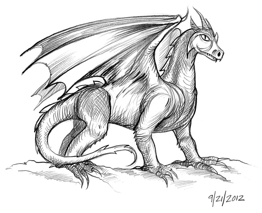 Dragons Drawings For Kids Easy Dragon Drawings