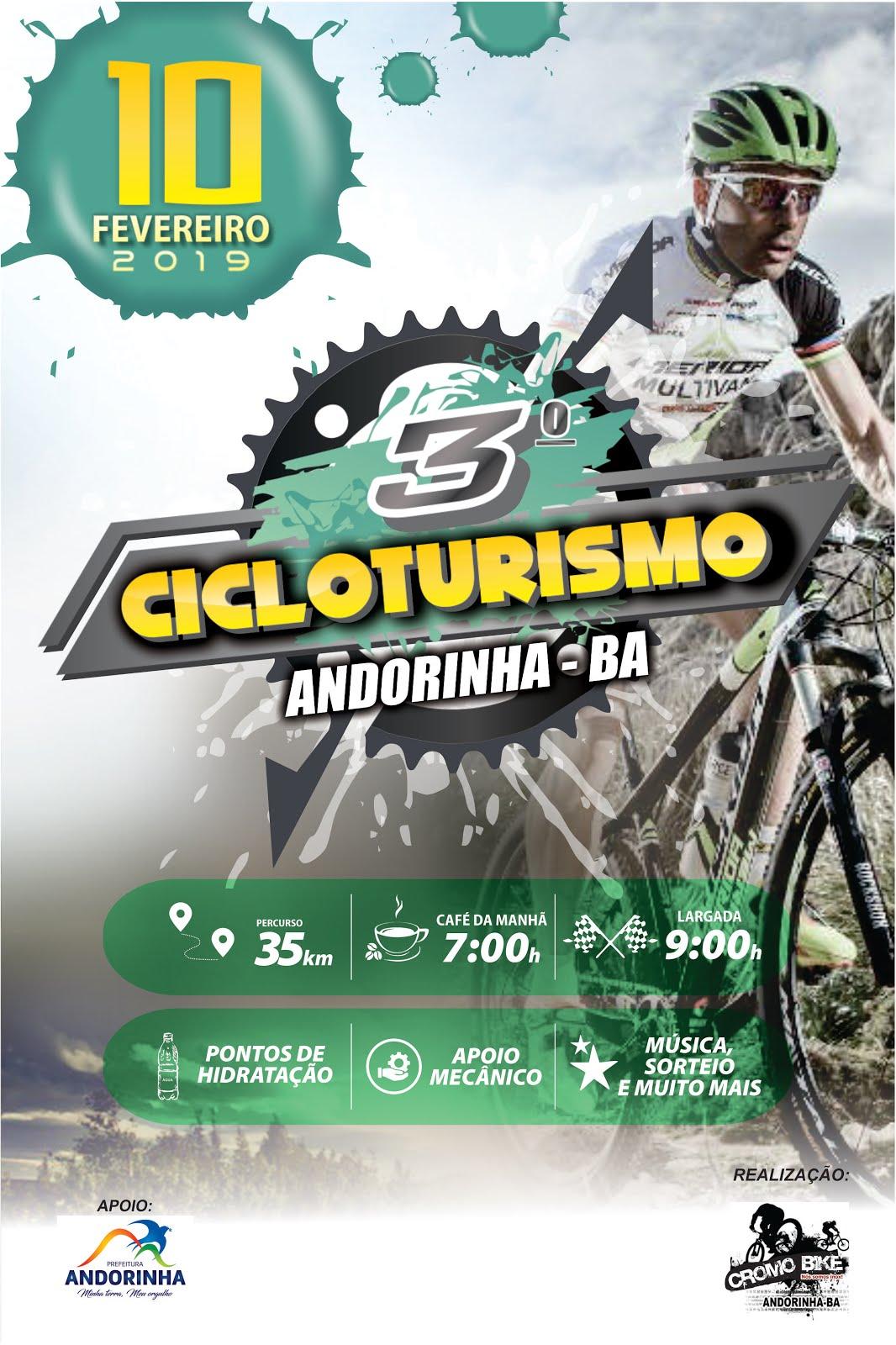 CONFIRA AS FOTOS DO 3º CICLOTURISMO DE ANDORINHA