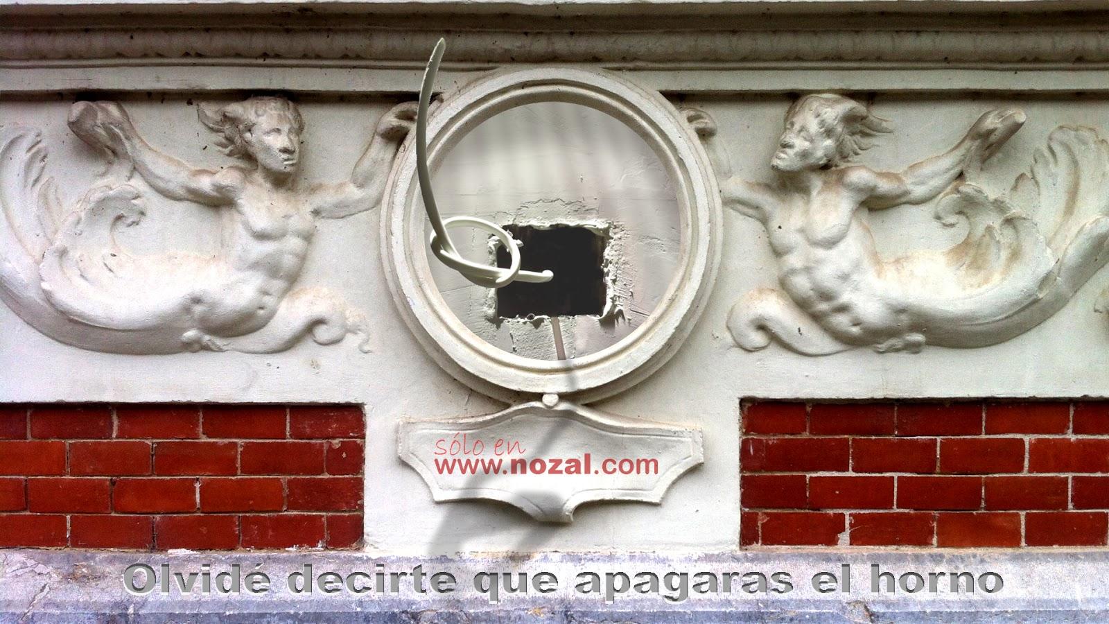 Del centro del relieve emerge el quid de la novela, 2014 Abbé Nozal