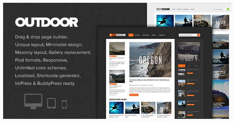 Outdoor WP theme