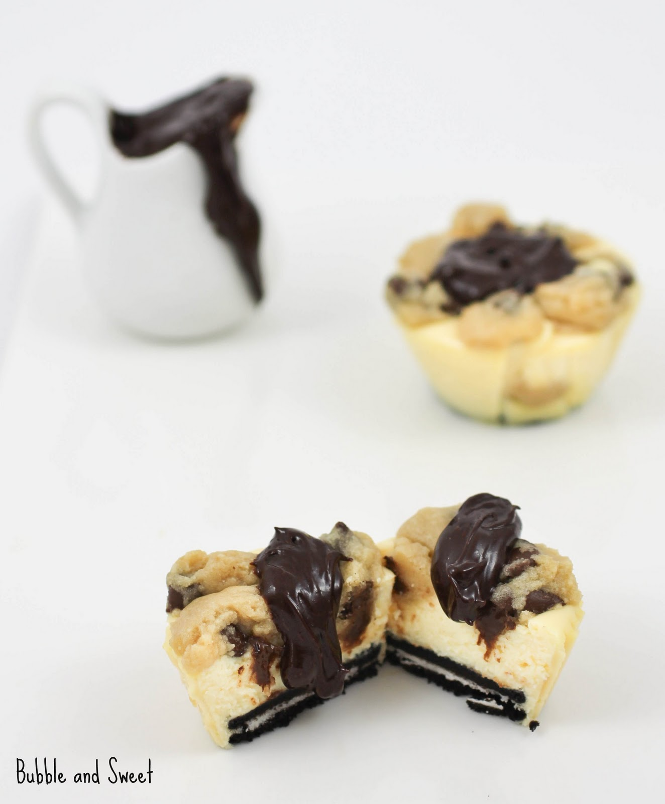 Chocolate Chip Cookie Dough Mini Baked Cheesecakes
