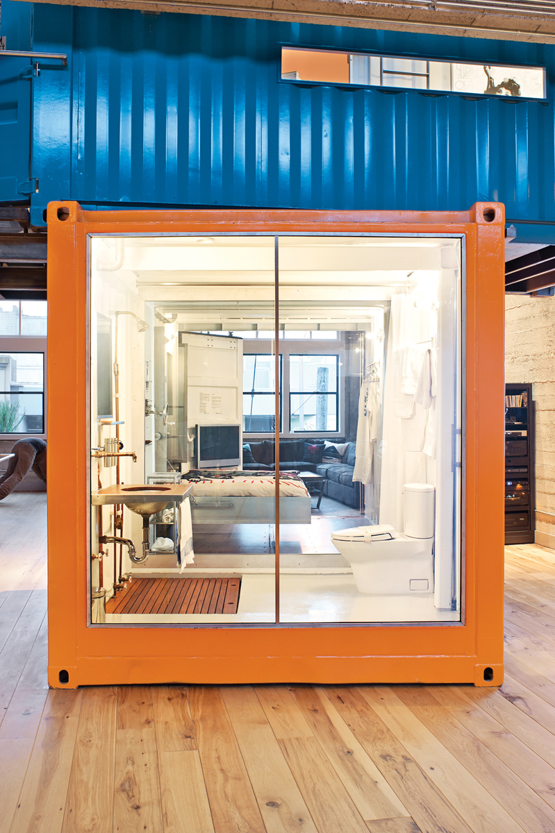 Shipping container homes shipping containers in loft Container appartement