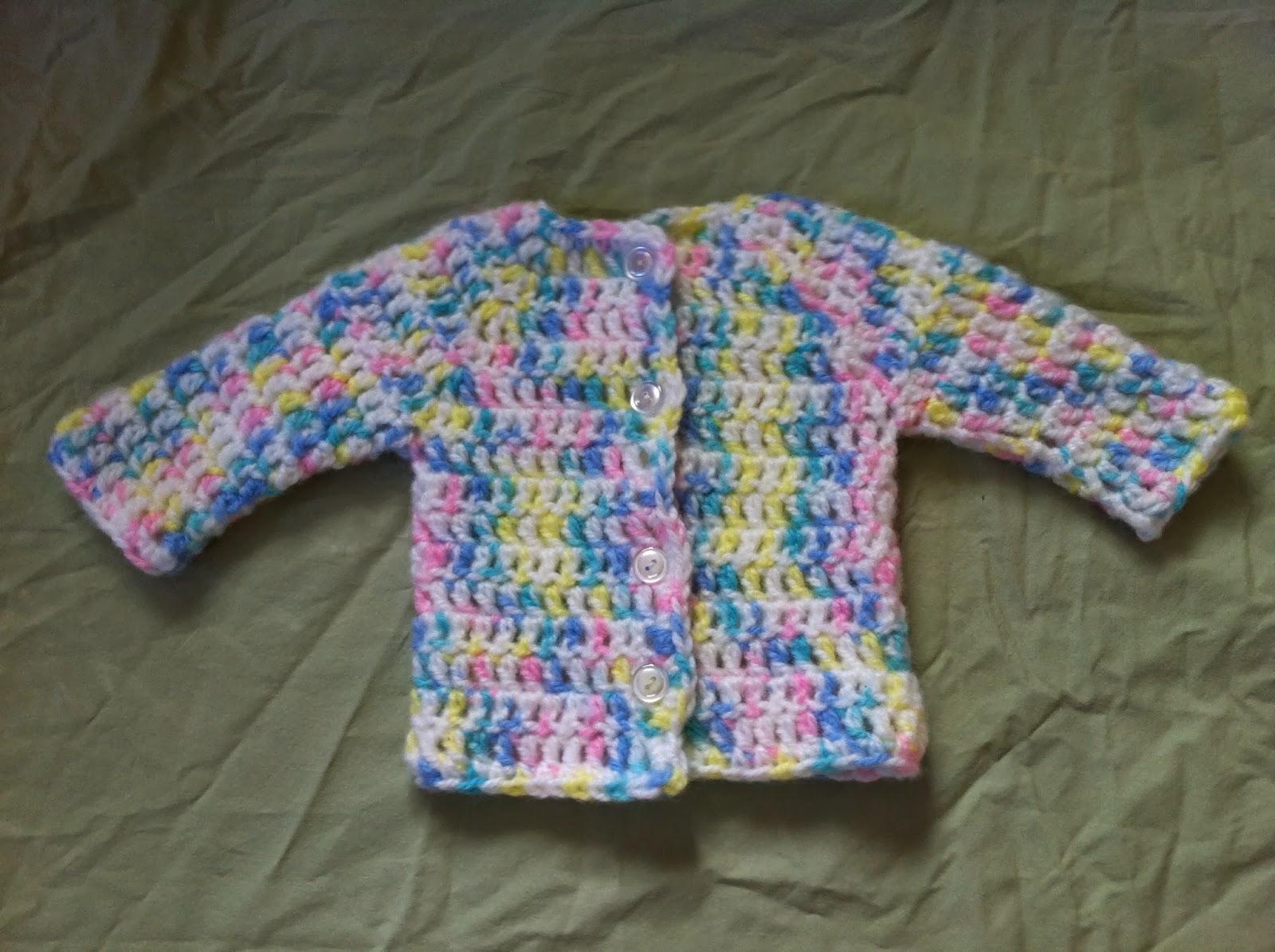 Free Crochet Pattern Preemie Sweater : Crochet Cardigan for Preemie / Newborn Babies - Free ...