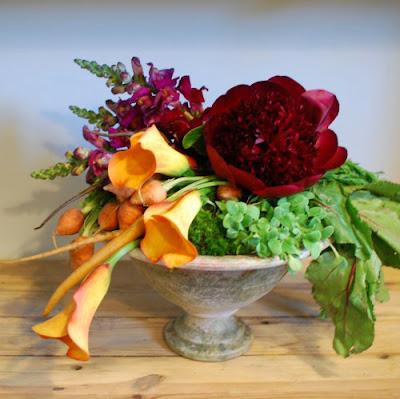 Cắm Hoa Và Rau Củ Quả 05