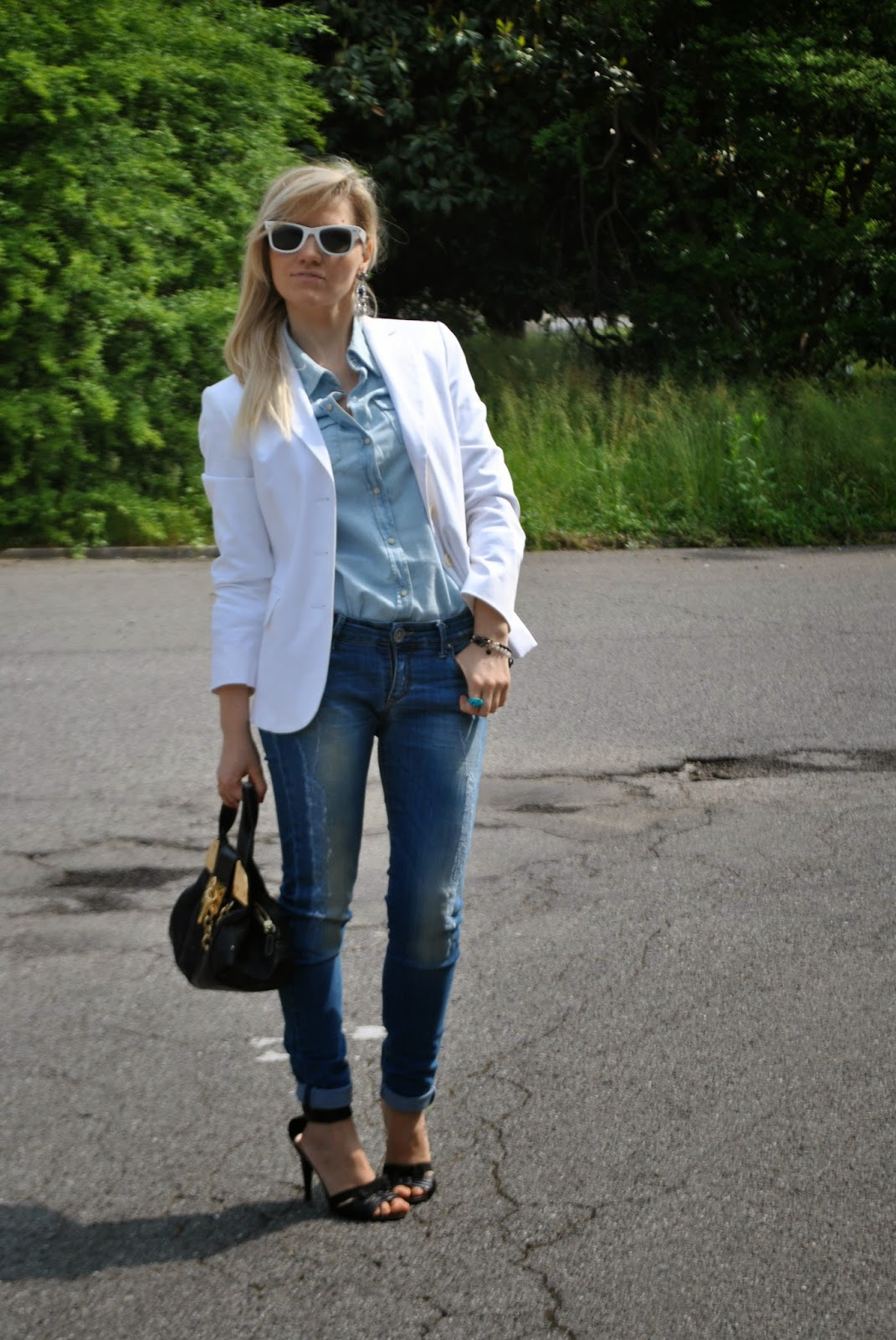 outfit blazer bianco abbinamenti blazer bianco come abbinare il blazer bianco mariafelicia magno colorblock by felym mariafelicia magno fashion blogger outfit primaverili donna outfit maggio 2015 outfit jeans e tacchi abbinamenti jeans e tacchi come abbinare jeans e tacchi fashion blog italiani blog di moda italiani milano fashion bloggers italy spring outfits girls blondie blonde hairs blonde girls