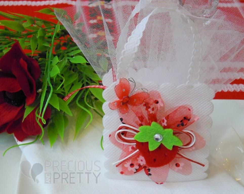 favor bags for girl's christening