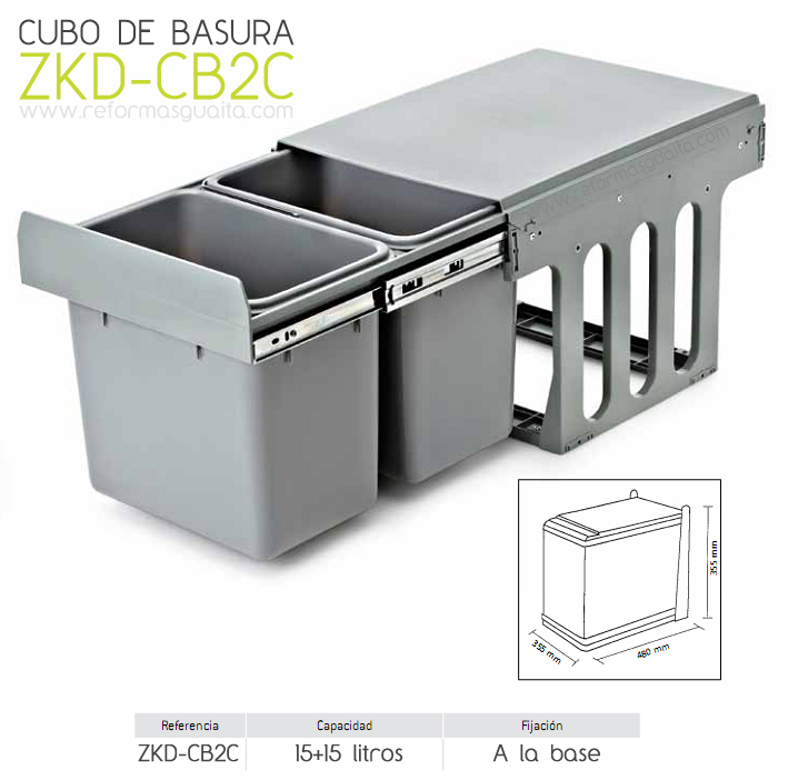 Cubo de basura extra ble para mueble con puerta ii for Cubos de basura leroy merlin