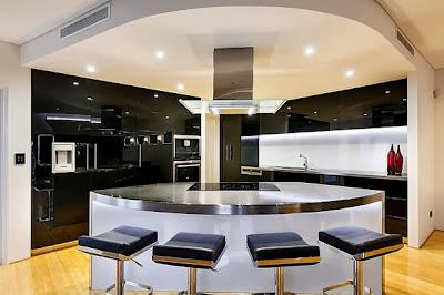 Isla circular para cocina lujosa