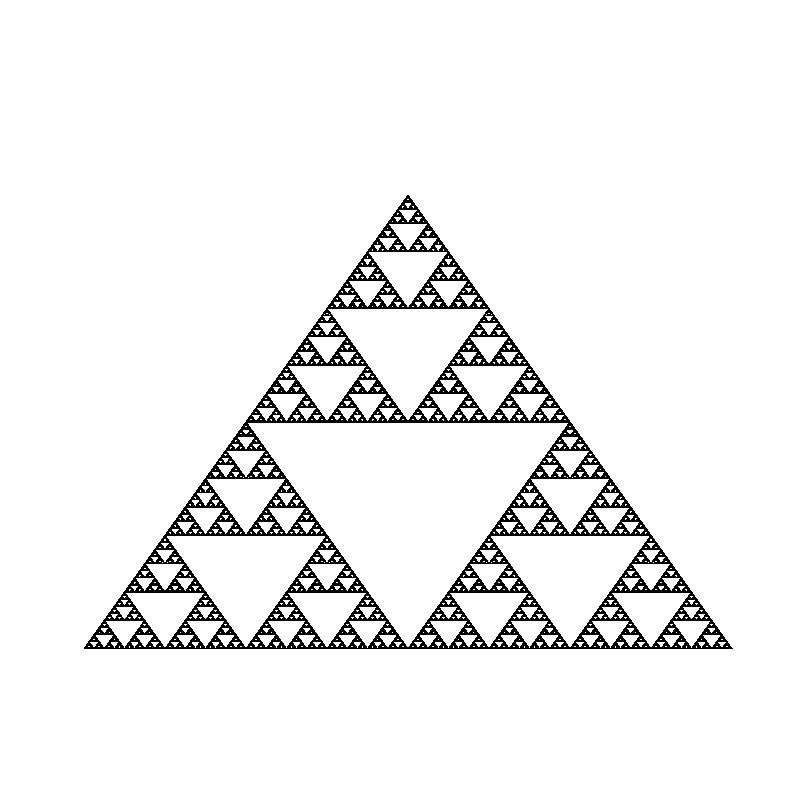 Sierpiński's Triangle.