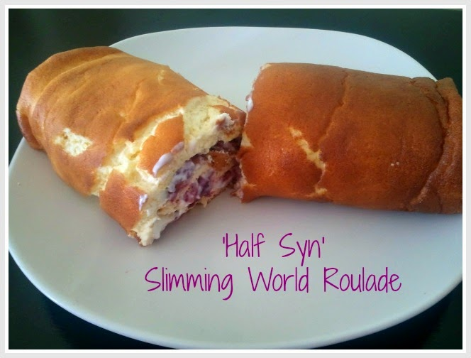 'Half Syn' Roulade - Slimming World Cake