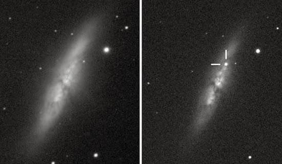 Ditemukan Supernova Baru di Galaksi Cigar