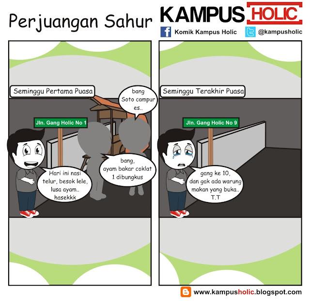 #219 Perjuangan Sahur, mahasiswa komik kampus holic