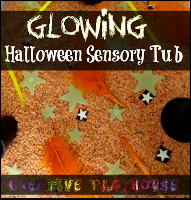 Glowing Halloween Sensory Tub| Creative Playhouse