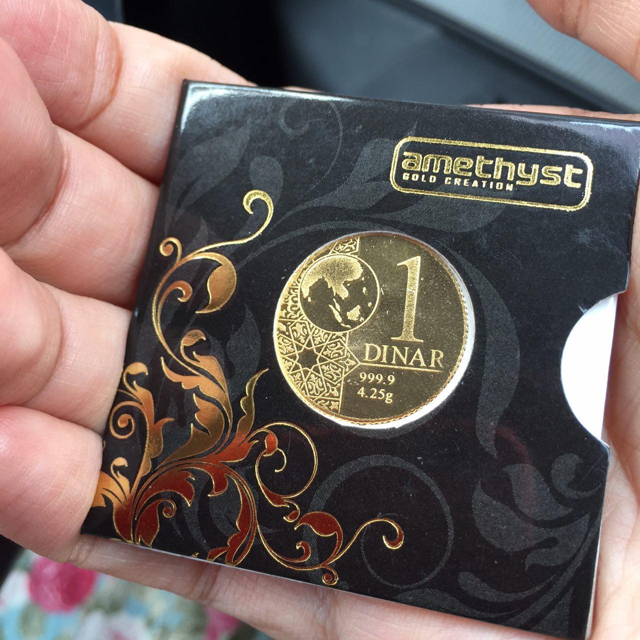 1 dinar (4.25g emas 999.9)