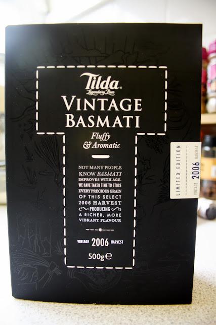 A box of Tilda Vintage Basmati Rice