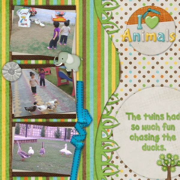 CT page using Zoo Adventures by Dandelion Dust Designs