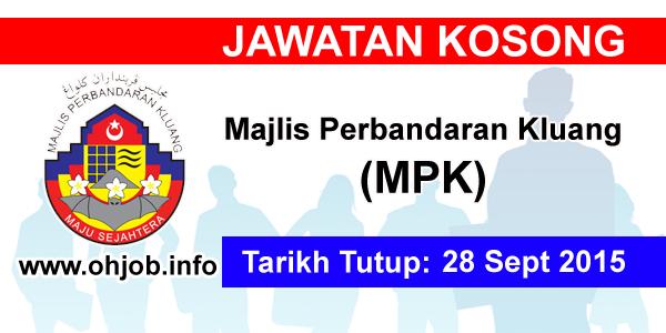 Jawatan Kerja Kosong Majlis Perbandaran Kluang (MPKluang) logo www.ohjob.info september 2015