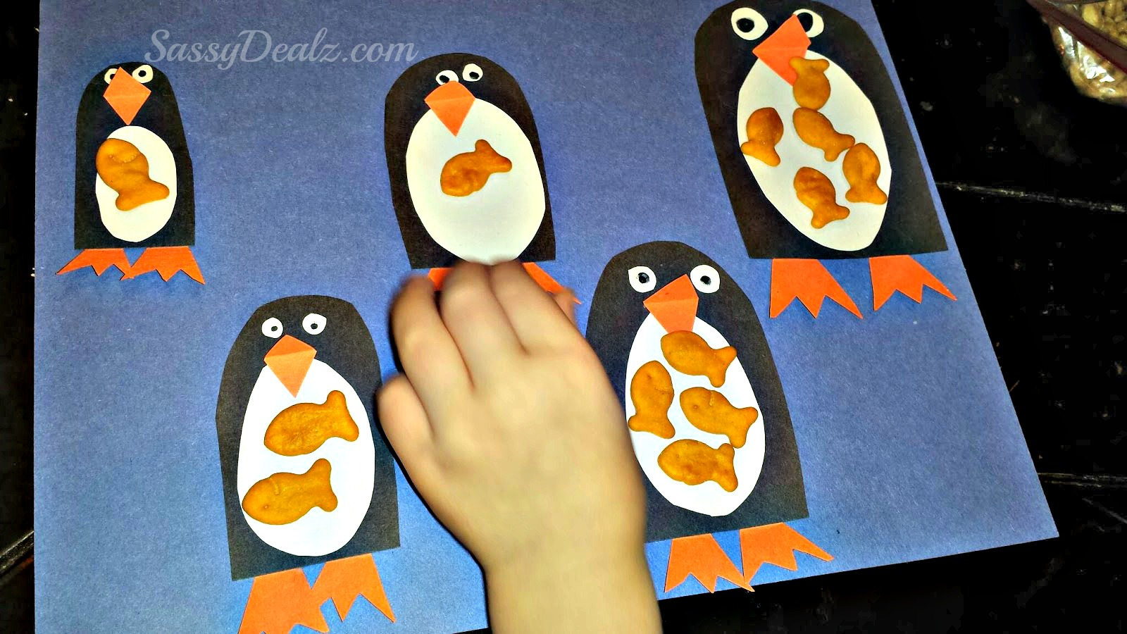 Counting Goldfish On Penguin Crafts For Kids