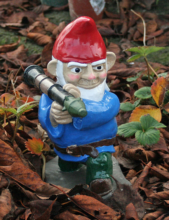Gun news blog combat garden gnomes for Combat gnomes for sale