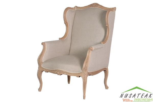 Sinabang Carved Wing Chair - Nusa Teak