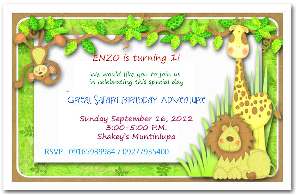 40th birthday ideas safari birthday invitation template free baby theme that we picked is a jungle safari theme the invitation stopboris Images