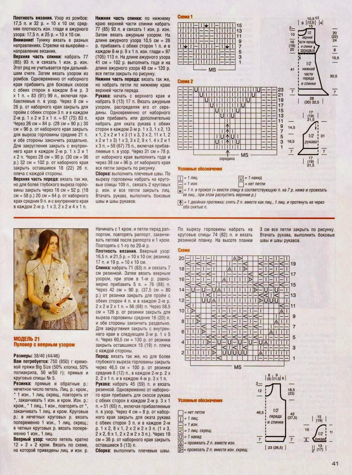 Как читать схемы вязания спицами Ажурные Узоры 53