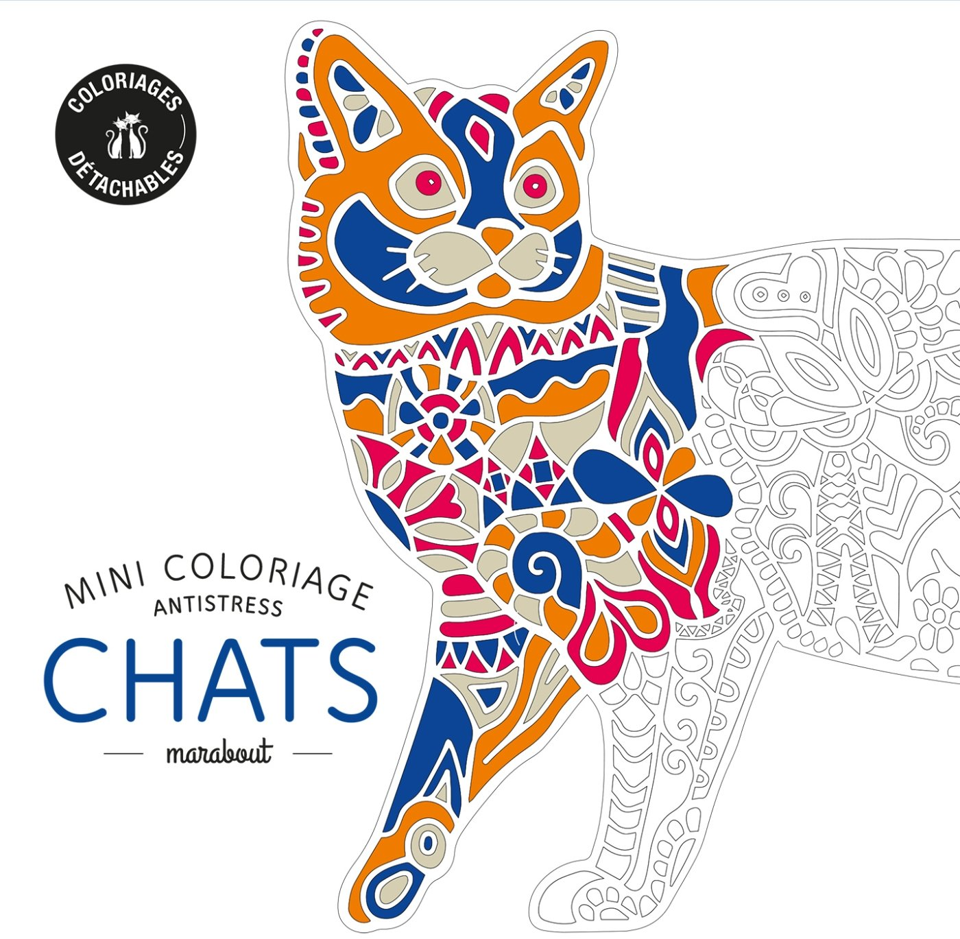Chronique coloriage anti stress Mini coloriage anti stress CHATS ♥ ♥ ♥