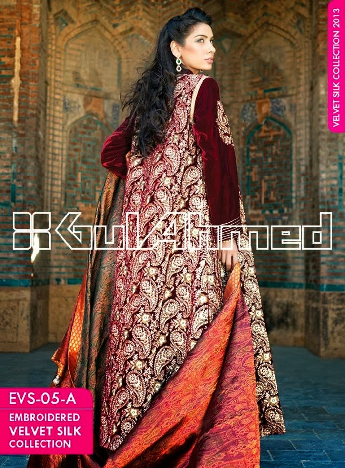 GulAhmedEmbroideredSilkVelvetCoats wwwfashionhuntworldblogspotcom 010 - Gul Ahmed Embroidered Silk Velvet Coats 2014