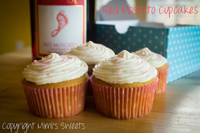 Red Moscato Cupcakes