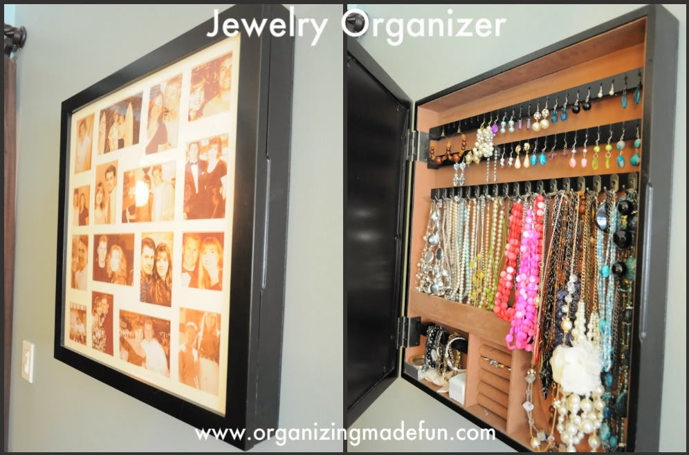 11 creative ways to organize your jewelry organizing made fun 11 creative ways to organize. Black Bedroom Furniture Sets. Home Design Ideas
