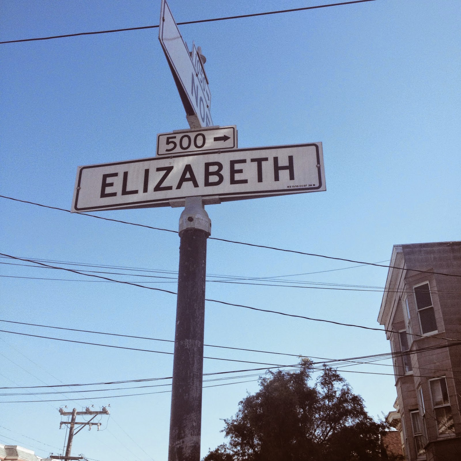 Elizabeth street sign in San Francisco