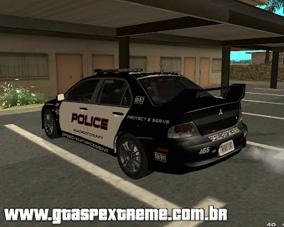 Mitsubishi Lancer Evo VIII MR Police Speed Enforcement para GTA San Andreas