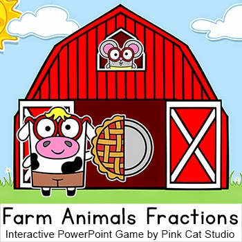 http://www.teacherspayteachers.com/Product/Fractions-Game-Farm-Animals-Theme-Interactive-PowerPoint-Game-1079717