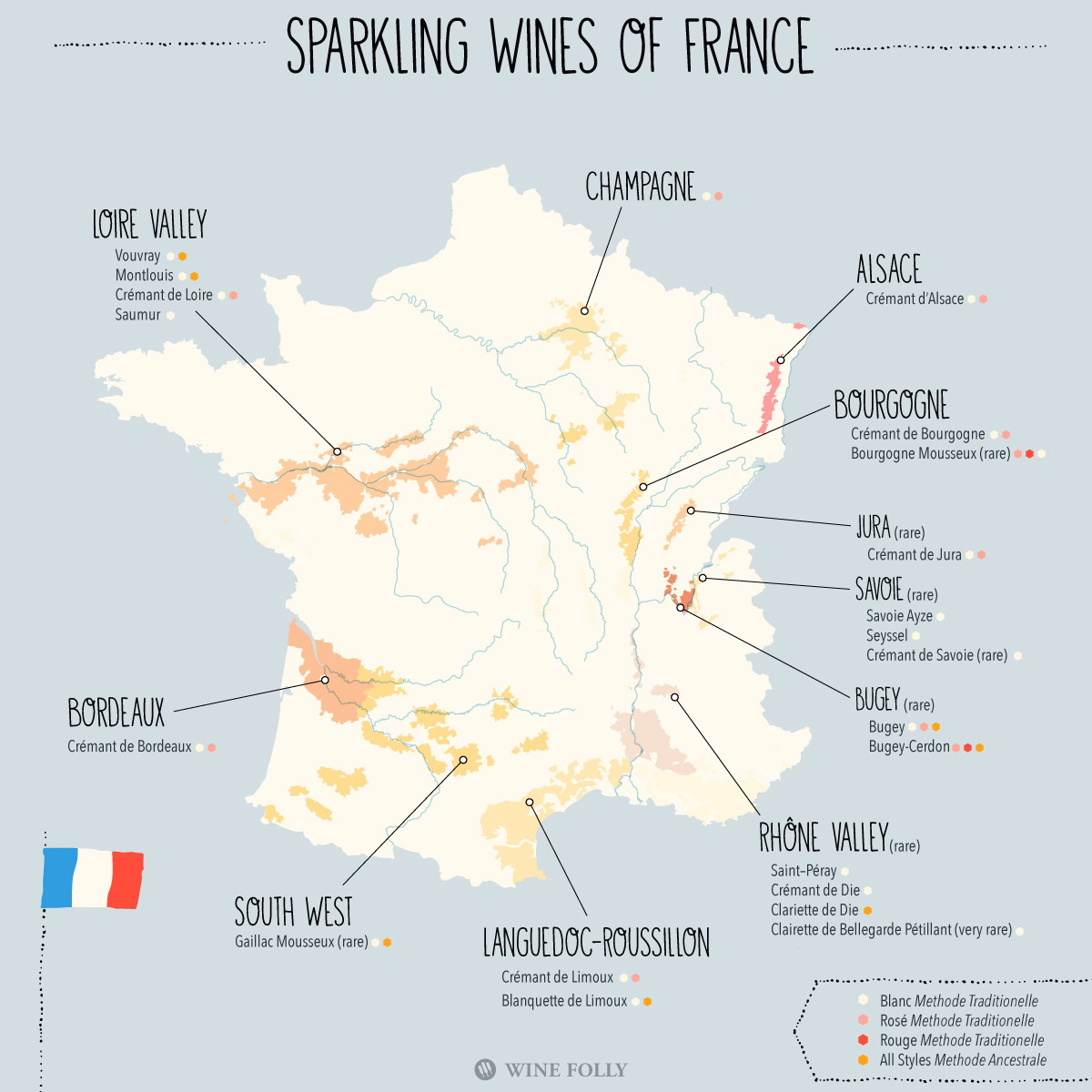 Sparkling wines of France