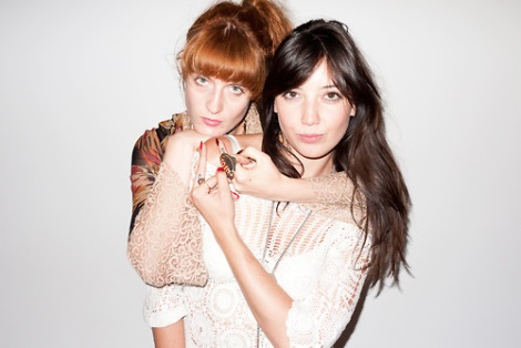 Florence Welch and Daisy Lowe portrait