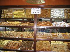 Facturas en la pastelería