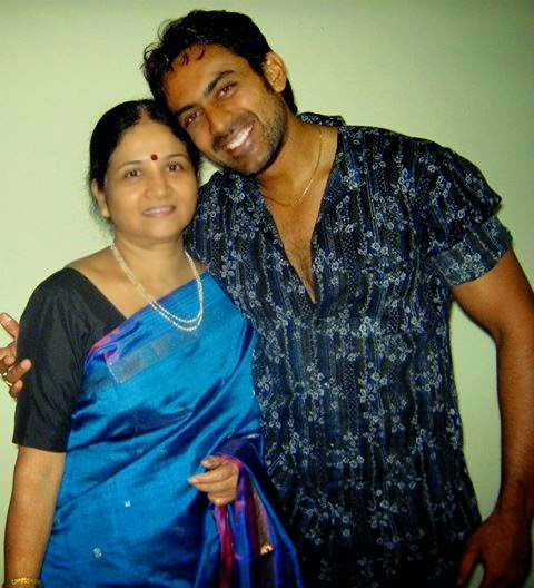 Karthik with her mother