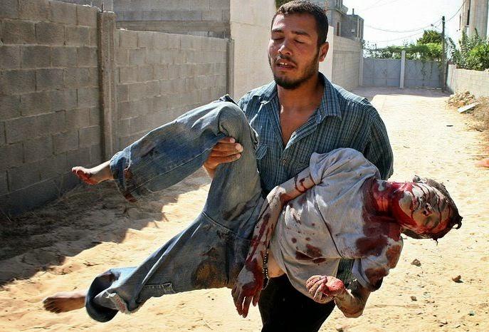 Victimas de los bombardeos entre Israel y Gaza