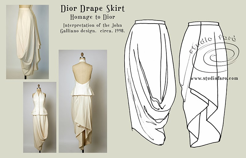 Well suited Pattern Puzzle Dior Draped Skirt