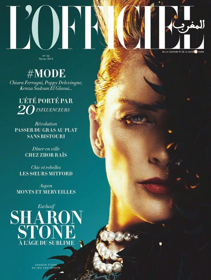 Actress, Model: Sharon Stone for L'Officiel Morocco