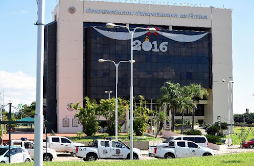 Paraguay police search S. American football HQ