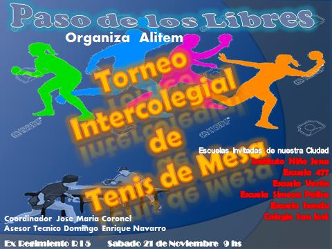 Torneo Intercolegial 2015 en Paso de los Libres
