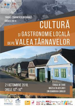 Cultură și Gastronomie pe Valea Târnavelor - 21 octombrie 2018