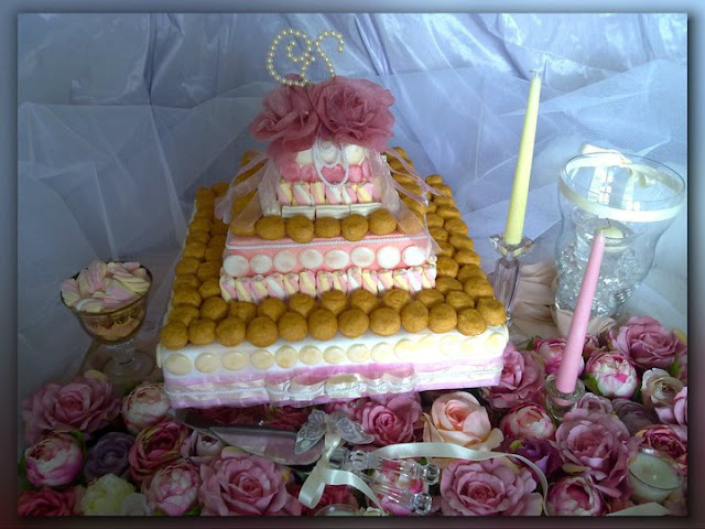candy cake per un candy buffet di dolci e caramelle